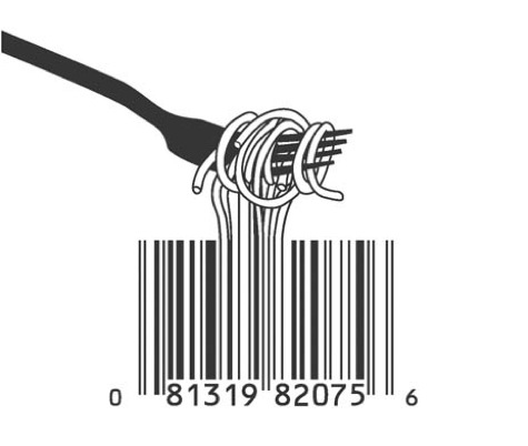 Barcode design ambalaj for Food barcode