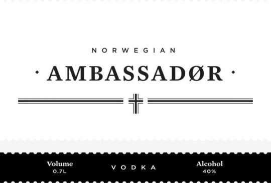 ambassador vodka packaging design 2