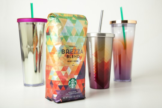 brezza blend starbucks packaging design 1