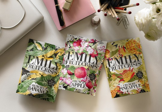 emily fruit crisps packaging design 1