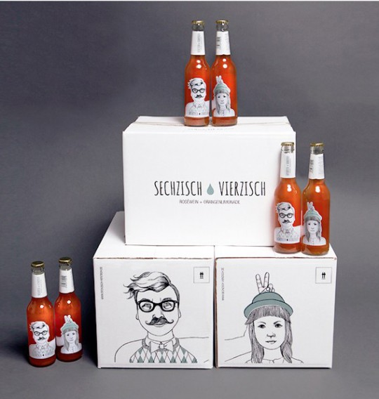 Sechzisch Vierzisch packaging design 2